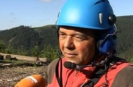 Reportáž TV Prima z těžby dřeva