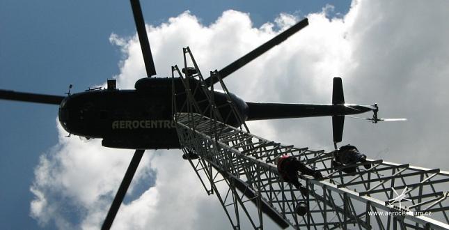 Montáž stožárů rozvodné soustavy VVN - Česká Třebová