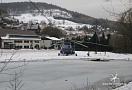 Mikulov, u dolní stanice lanovky na Bouřňák - dočasný heliport na parkovišti ...