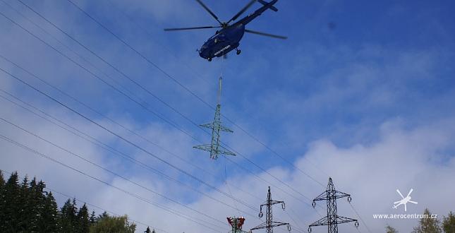 Letecké práce pro energetiky, Horní Maršov