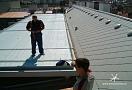 .. místo pro usazení klimatizací na střeše nového hotelu na Národní třídě ...